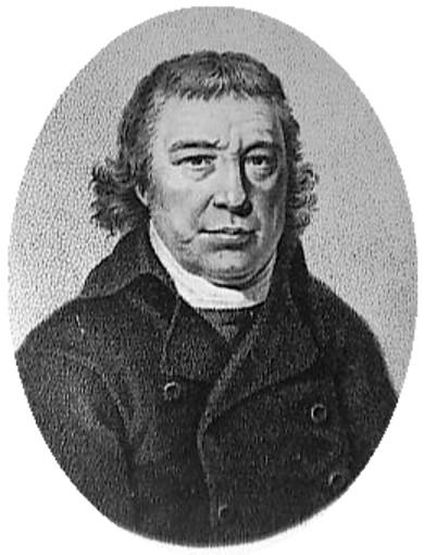 Czarno-biały portret botanika Adolphusa Ypeya