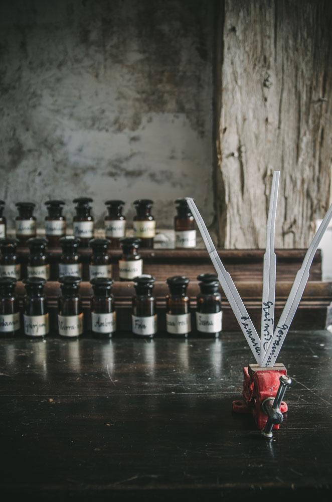 Buteleczki z olejkami eterycznymi Herbness. Blotery.